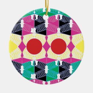 Geometrie Keramik Ornament