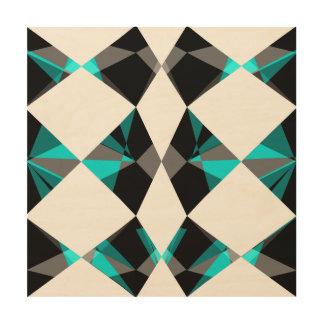 Geometrisch Holzwanddeko