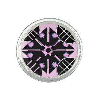 Geometrisch im rosa Ring