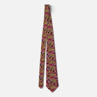 Geometrisch Retro Krawatte