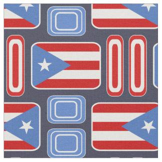 Geometrisch: Retro: Puertorikaner: Flagge Stoff