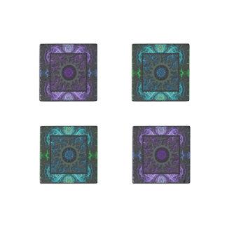 Geometrisch und Fraktal Design Stein-Magnet