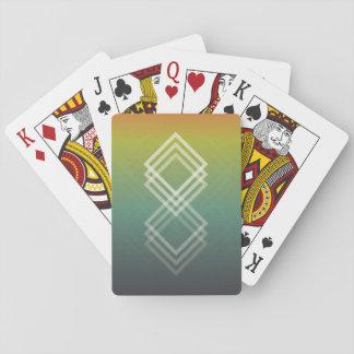 Geometrisch verblassen Spielkarten