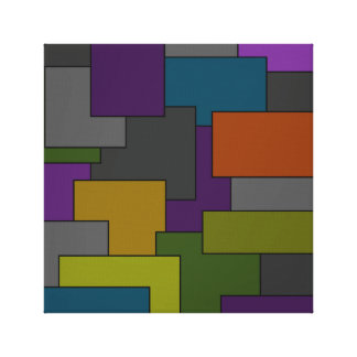 Geometrische abstrakte Mehrfarbenkunst Leinwanddruck