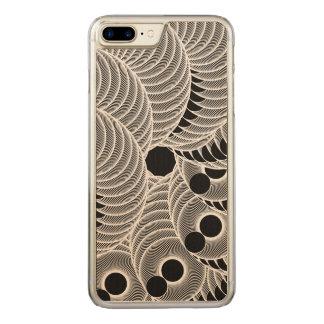 Geometrische abstrakte Schwarzweiss-Zahl Carved iPhone 8 Plus/7 Plus Hülle