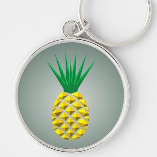 Geometrische Ananas Schlüsselanhänger