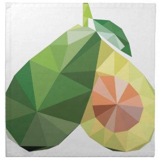 Geometrische Avocado Serviette