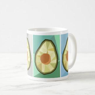 Geometrische Avocado-Tasse Kaffeetasse