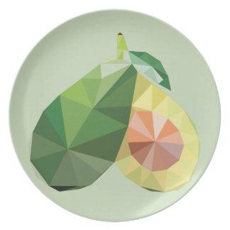 Geometrische Avocado Teller