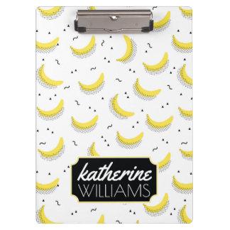 Geometrische Bananen | addieren Ihren Namen Klemmbrett