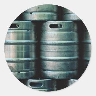 Geometrische Bierfässer Tschechische Republik Runde Sticker