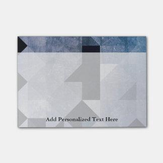 Geometrische Blau-Dreiecke und Diamanten der Post-it Haftnotiz