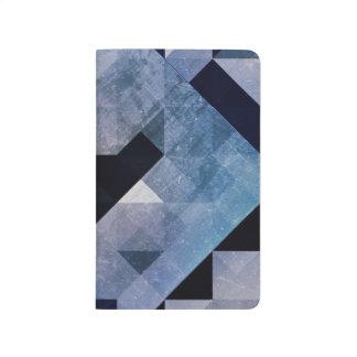 Geometrische Blau-Dreiecke und Diamanten der Taschennotizbuch