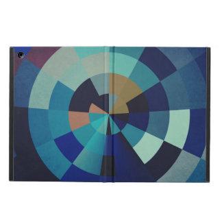 Geometrische Blau-Kreise, Bogen und Dreiecke der