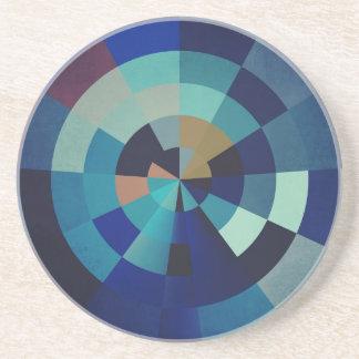 Geometrische Blau-Kreise, Bogen und Dreiecke der Untersetzer