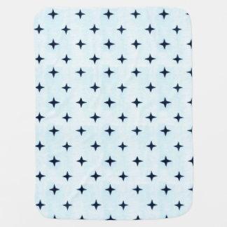 Geometrische blaues Baby-Decke Kinderwagendecke