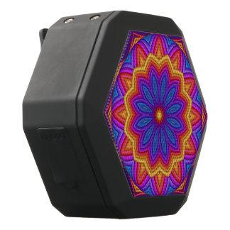 Geometrische Blumen-Medaillon Boombot REX Schwarze Bluetooth Lautsprecher