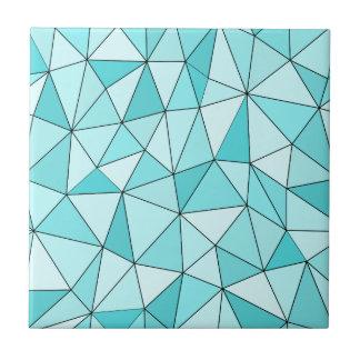 Geometrische cyan-blaue Dreieck-moderne Fliese