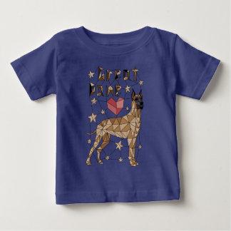 Geometrische Deutsche Dogge Baby T-shirt