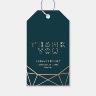 Geometrische Diamant-Hochzeit danken Ihnen zu Geschenkanhänger