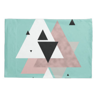 geometrische Dreiecke der eleganten klaren Kissenbezug