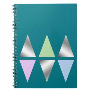 geometrische Dreiecke des eleganten klaren Spiral Notizblock