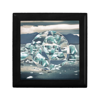 Geometrische Eisberge abstrakt Schmuckschachtel