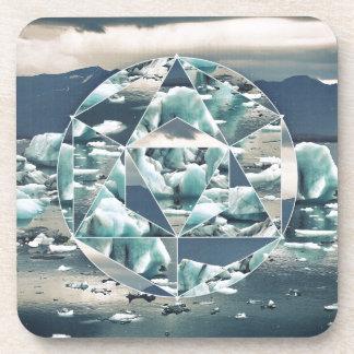 Geometrische Eisberge abstrakt Untersetzer