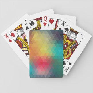 Geometrische Farben Spielkarten