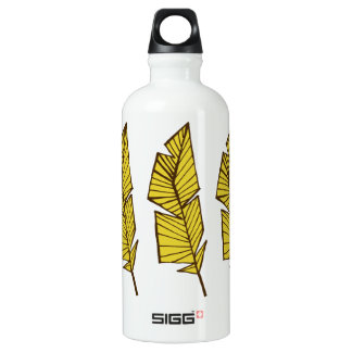 Geometrische Federn der Wasserflasche
