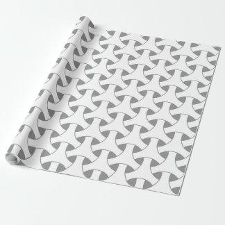 geometrische Flechtweide Geschenkpapier