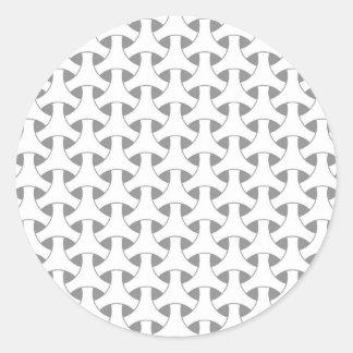 geometrische Flechtweide Runder Aufkleber