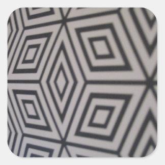 geometrische Formen Quadratischer Aufkleber