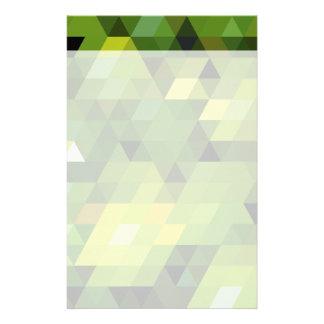 Geometrische grüne Dreiecke der Muster | Individuelle Druckpapiere