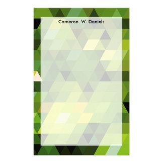 Geometrische grüne Dreiecke der Muster | Druckpapier