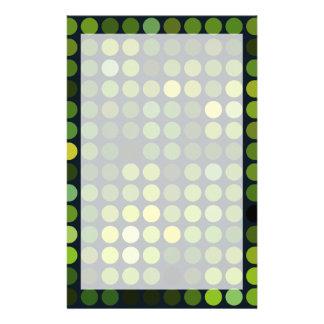 Geometrische grüne Kreise der Muster | Druckpapiere