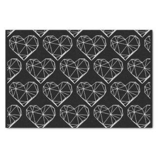 Geometrische Herzen Seidenpapier