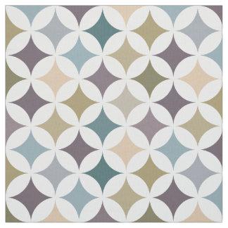 Geometrische Hypocycloid Muster-Herbstfarben Stoff