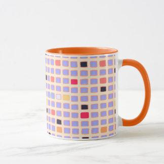 GEOMETRISCHE KAFFEE-TASSE MIT Quadrate Mondrian Tasse