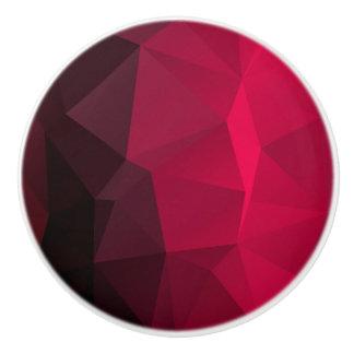 Geometrische KirschkristallFraktalmuster Keramikknauf
