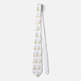 Geometrische Kreis-Weiß-Krawatte Bedruckte Krawatten