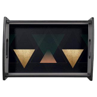 Geometrische Kunst-Deko-Dreiecke Tablett