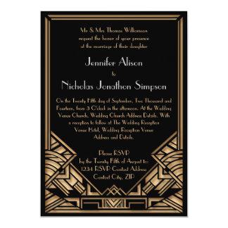 Geometrische Kunst-Deko Gatsby Art-Hochzeit lädt 12,7 X 17,8 Cm Einladungskarte