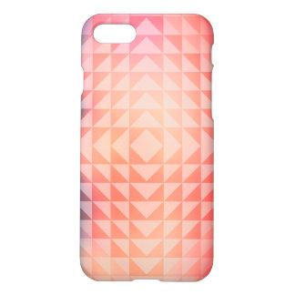 Geometrische Kunst-Dreieck-Fraktale blau und iPhone 8/7 Hülle
