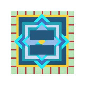 Geometrische Kunst Leinwanddruck