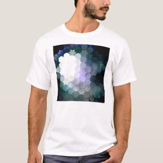 Geometrische lila Sterne u. Hexagone T-Shirt