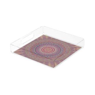 Geometrische Mandala des Hippie Acryl Tablett
