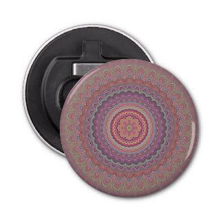 Geometrische Mandala des Hippie Flaschenöffner