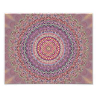 Geometrische Mandala des Hippie Fotodruck