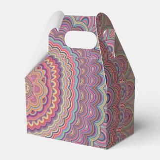 Geometrische Mandala des Hippie Geschenkschachtel